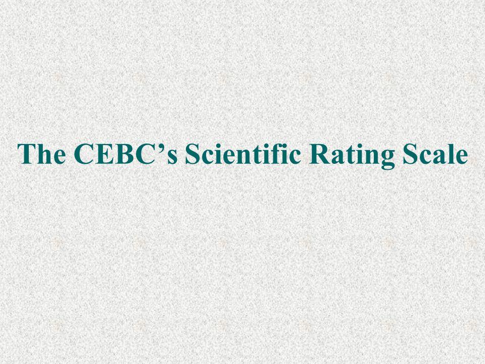 The CEBC's Scientific Rating Scale
