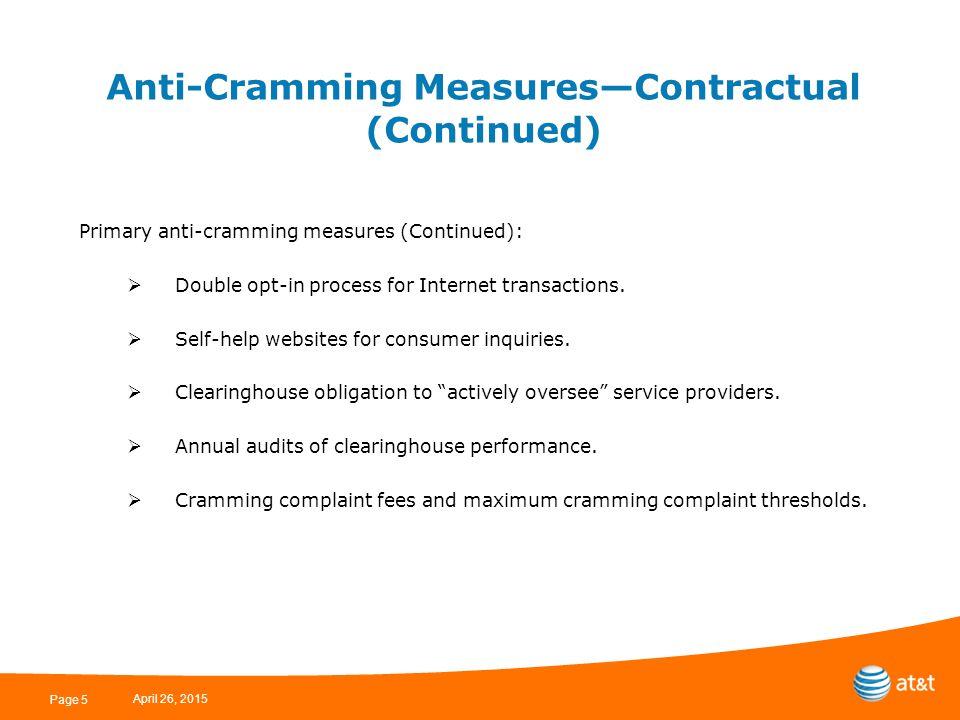 Selected Anti-Cramming Measures in More Detail April 26, 2015 Page 6