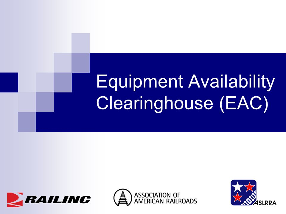 Equipment Availability Clearinghouse (EAC)