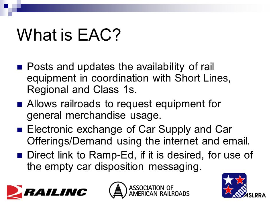 What is EAC.