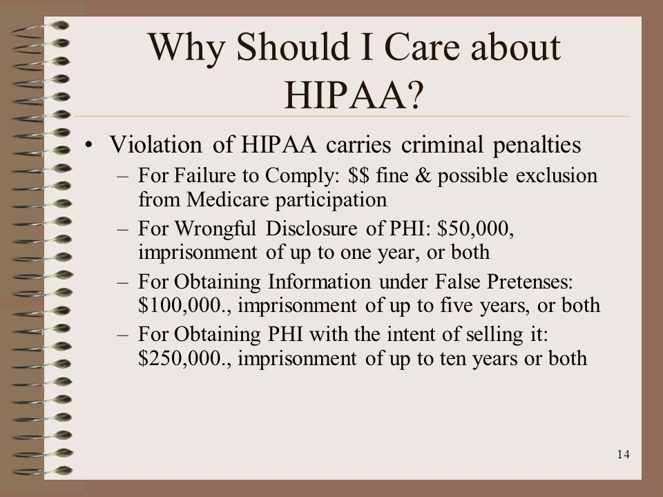 14 Why Should I Care about HIPAA.
