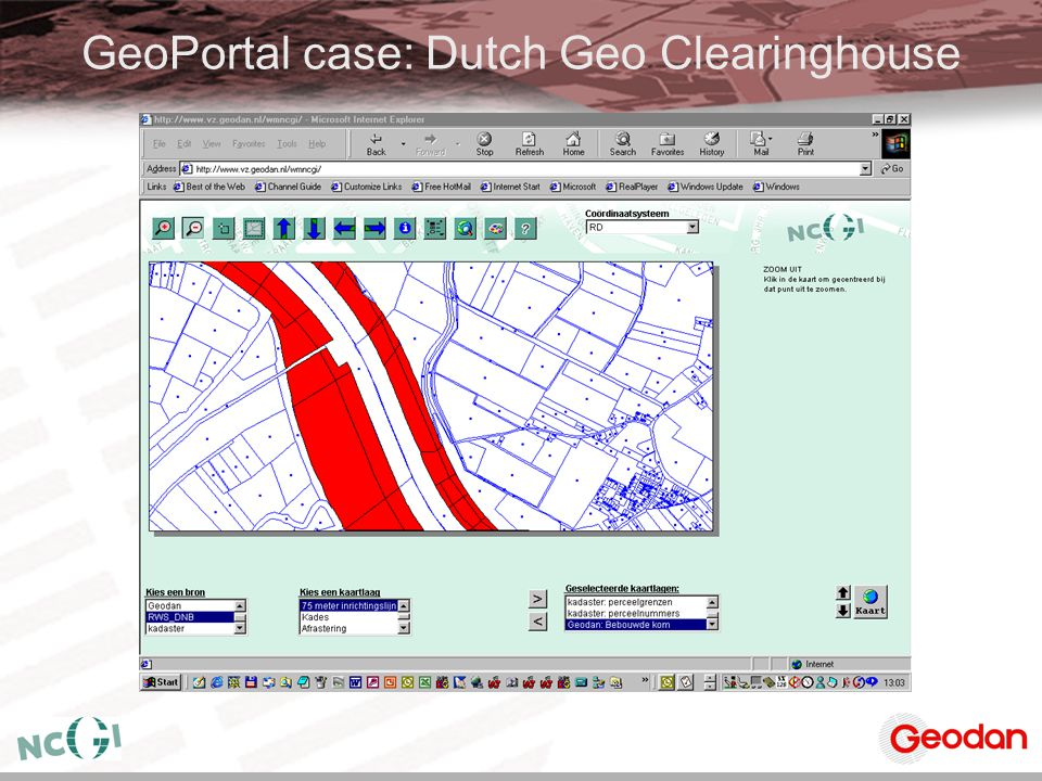 GeoPortal case: Dutch Geo Clearinghouse