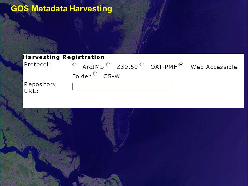 GOS Metadata Harvesting