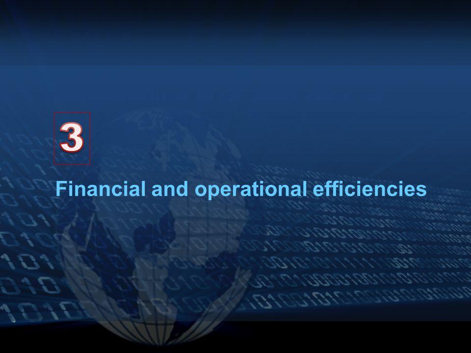 Financial and operational efficiencies