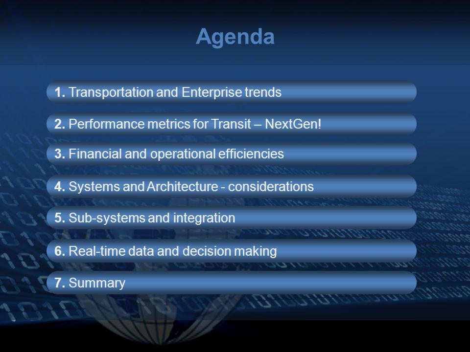 Agenda 1. Transportation and Enterprise trends 2.
