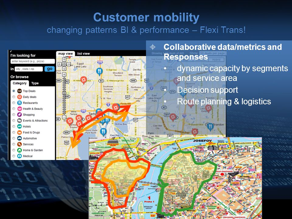 Customer mobility changing patterns BI & performance – Flexi Trans.