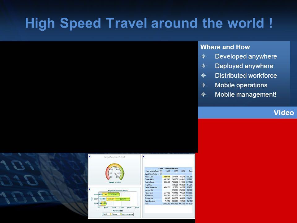 High Speed Travel around the world .