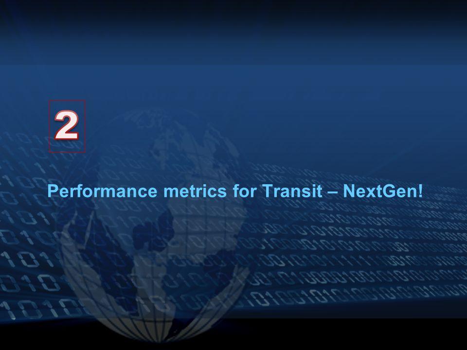 Performance metrics for Transit – NextGen!