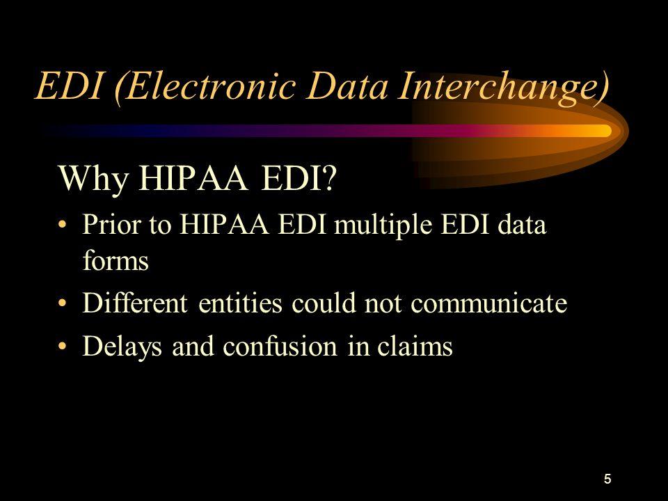 5 EDI (Electronic Data Interchange) Why HIPAA EDI.