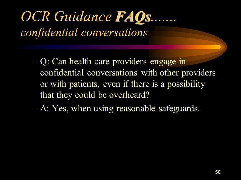 50 FAQs OCR Guidance FAQs.......