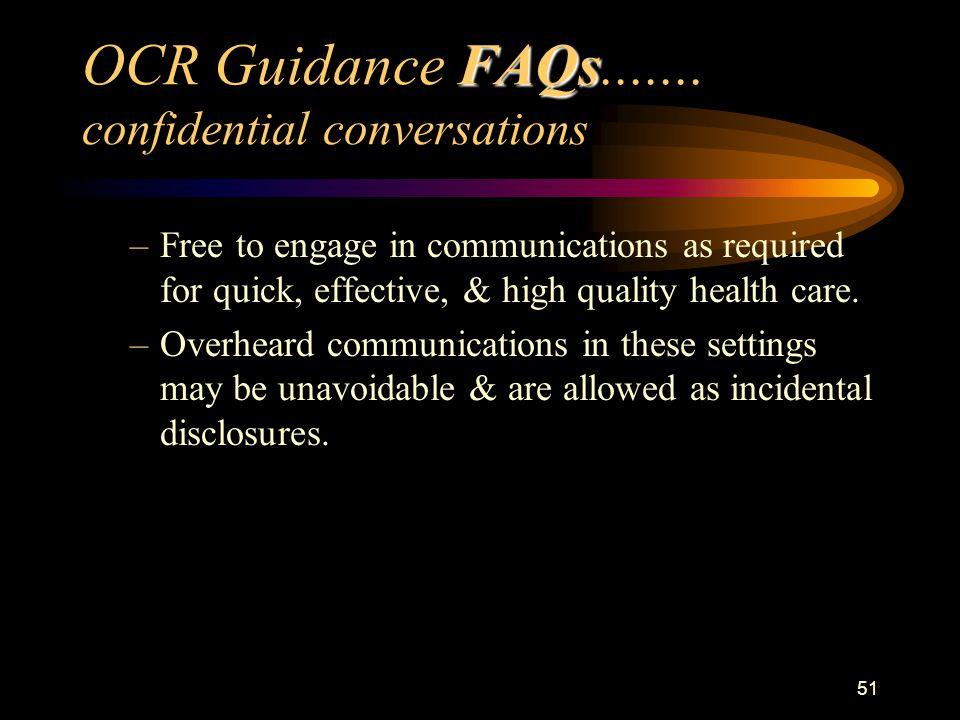 51 FAQs OCR Guidance FAQs.......