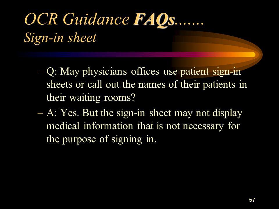 57 FAQs OCR Guidance FAQs.......