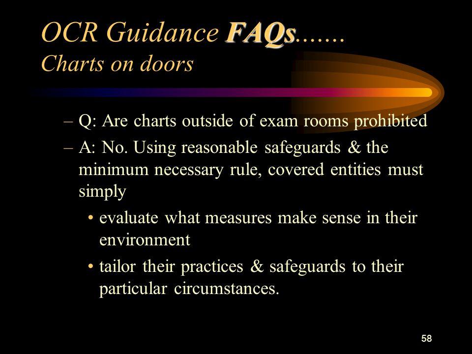 58 FAQs OCR Guidance FAQs.......