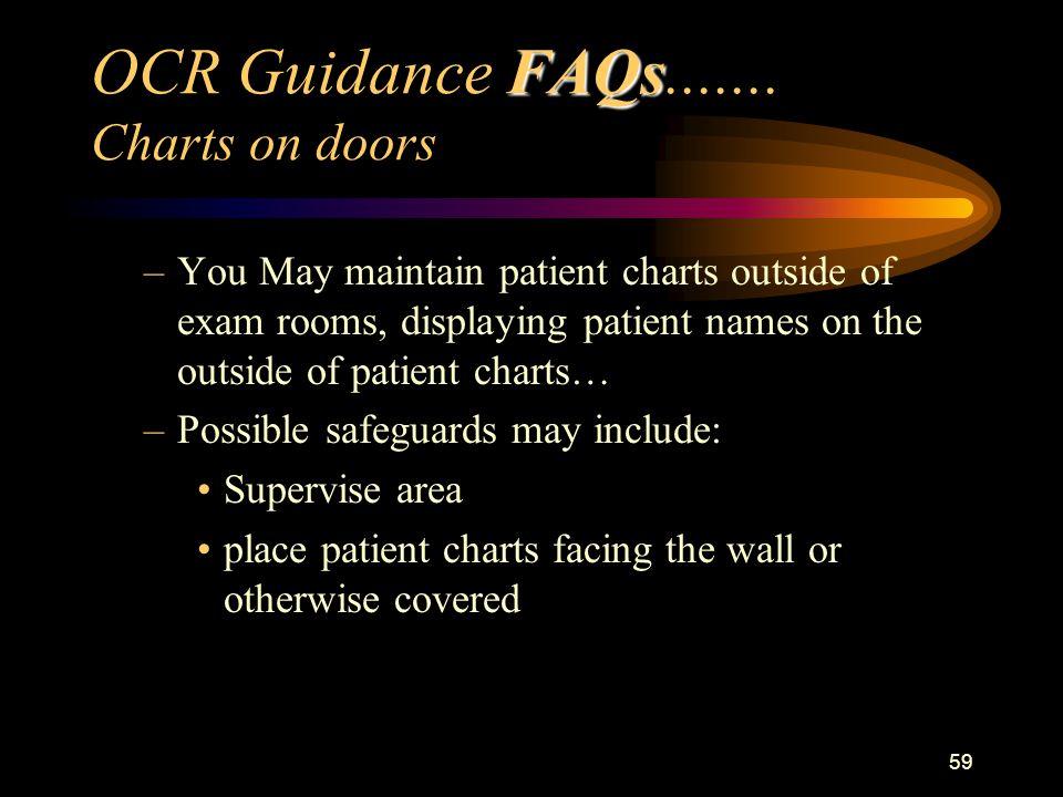 59 FAQs OCR Guidance FAQs.......