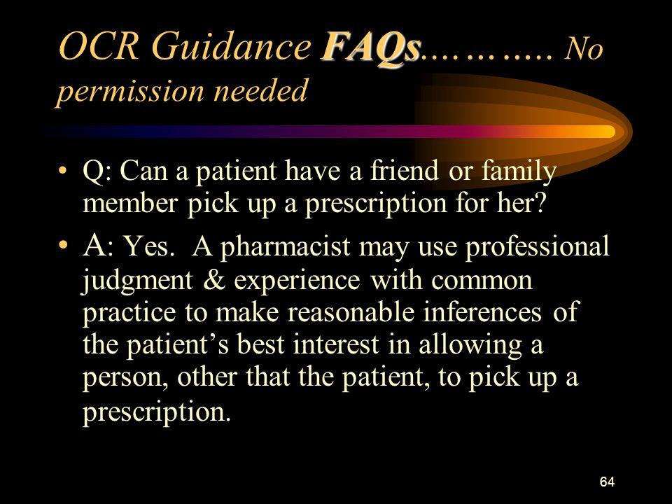 64 FAQs OCR Guidance FAQs....……..