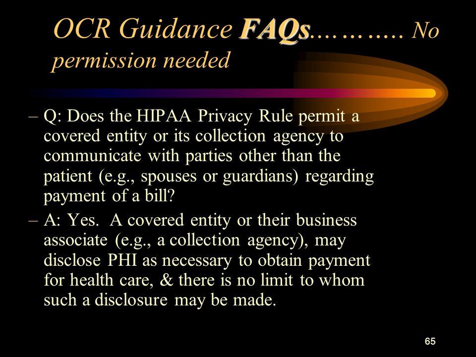 65 FAQs OCR Guidance FAQs....……..