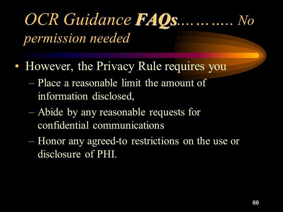 66 FAQs OCR Guidance FAQs....……..