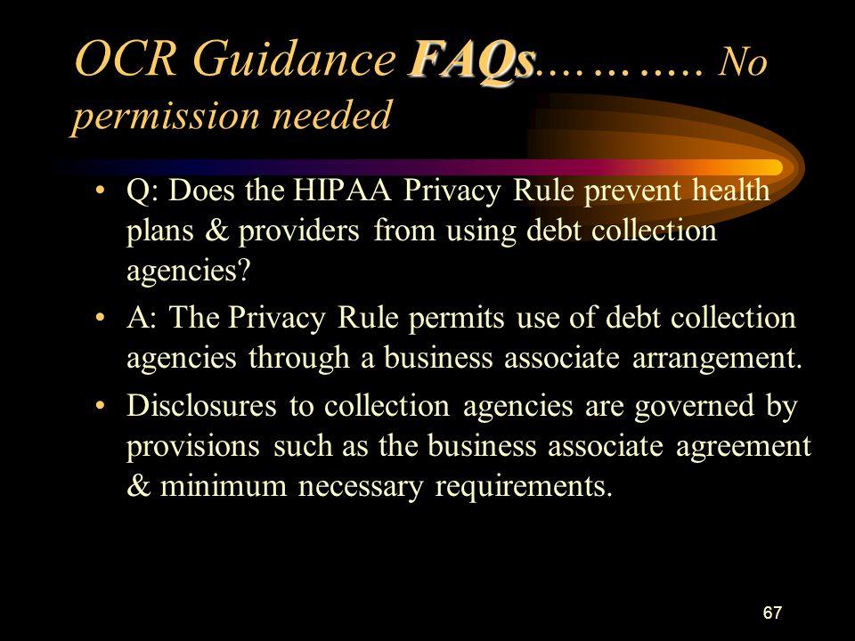 67 FAQs OCR Guidance FAQs....……..