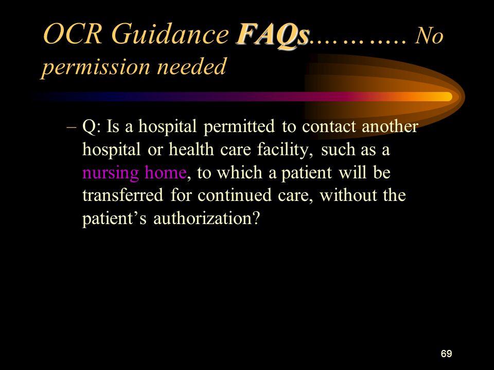 69 FAQs OCR Guidance FAQs....……..