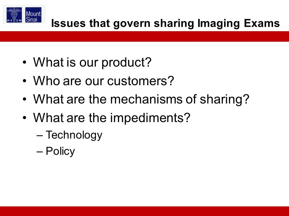 What is our product.Who are our customers. What are the mechanisms of sharing.