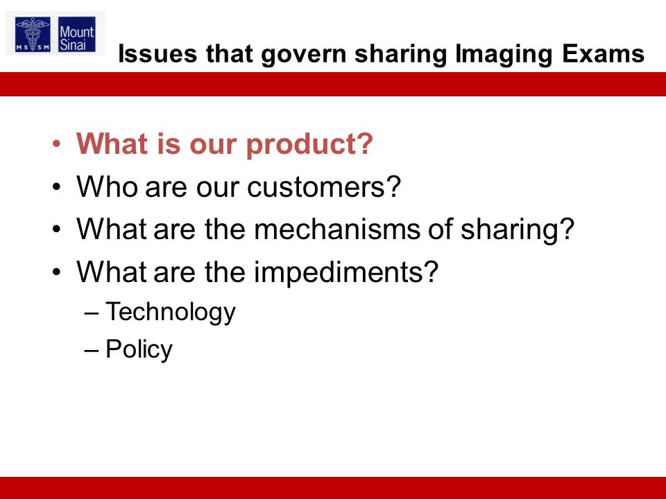 What is our product. Who are our customers. What are the mechanisms of sharing.