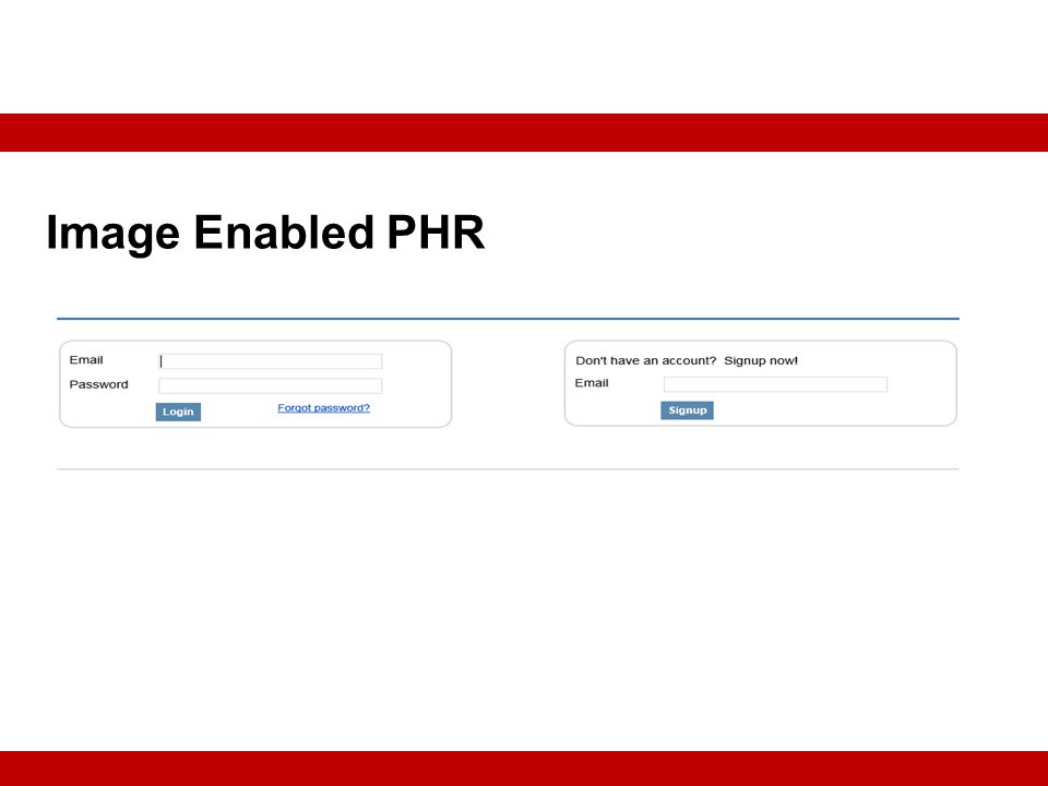 Image Enabled PHR