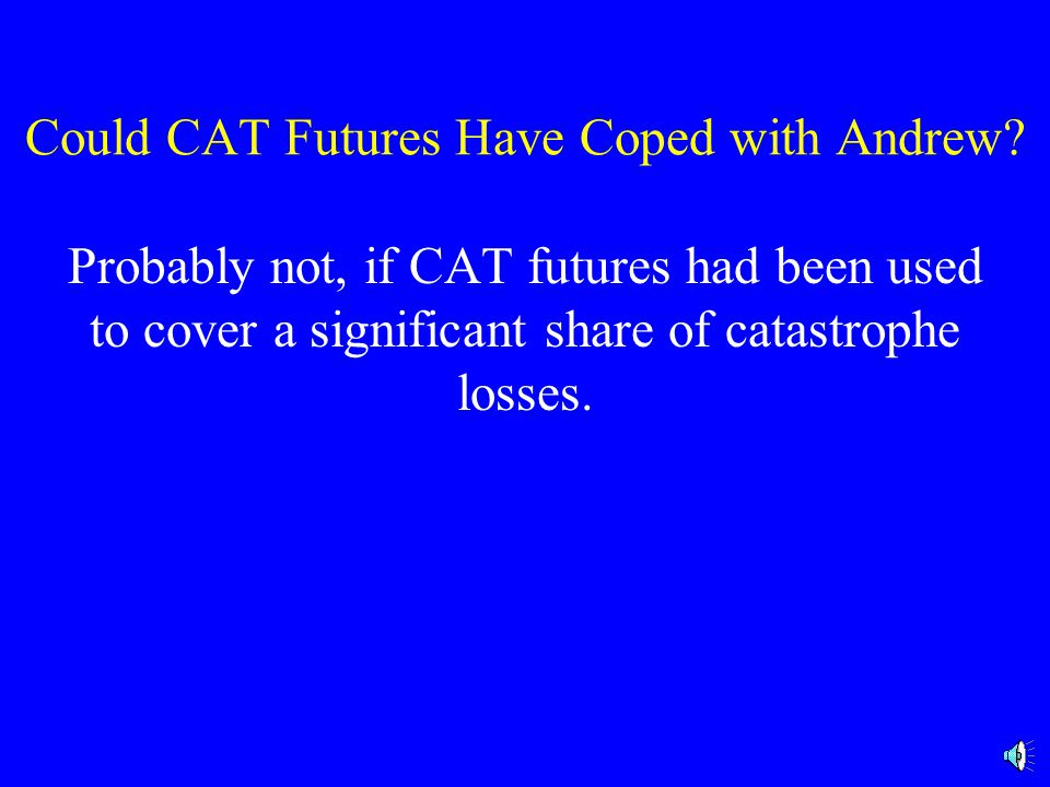 Could CAT Futures Have Coped with Andrew.