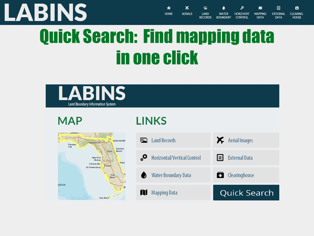 Quick Search: Find mapping data in one click