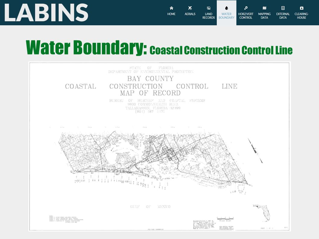 Water Boundary: Coastal Construction Control Line