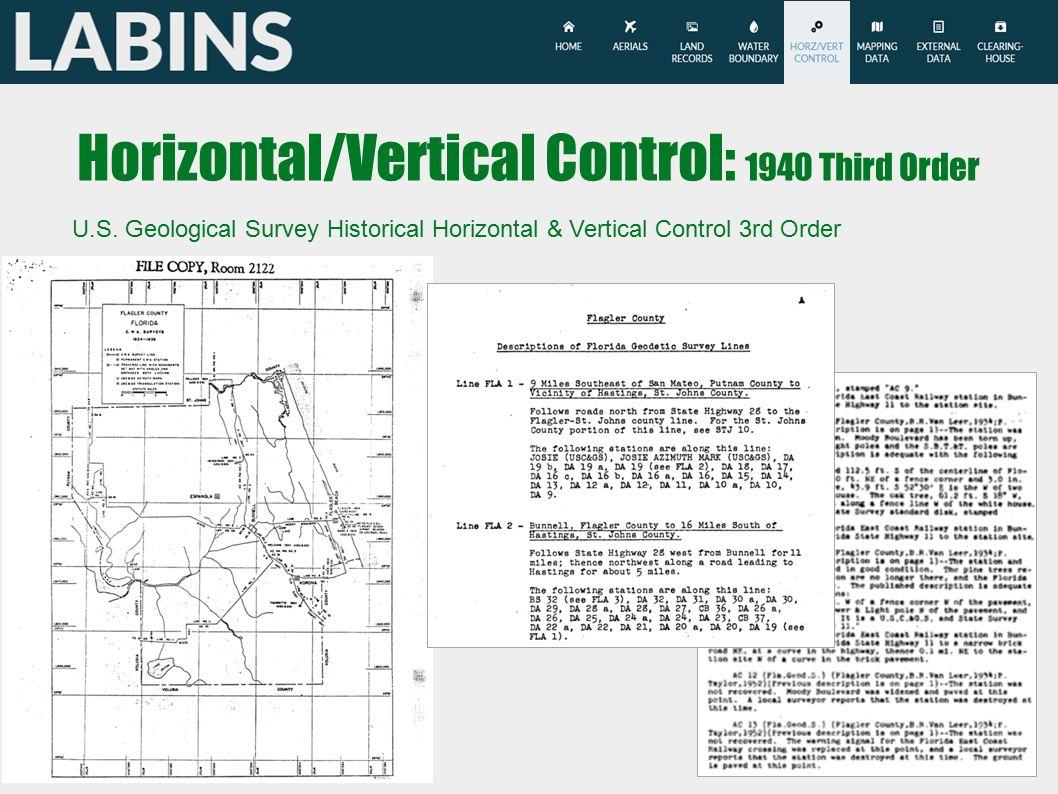 Horizontal/Vertical Control: 1940 Third Order U.S.