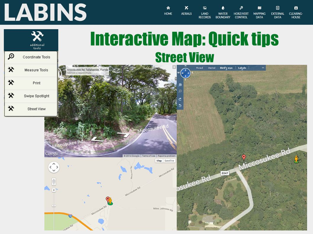 Interactive Map: Quick tips Street View