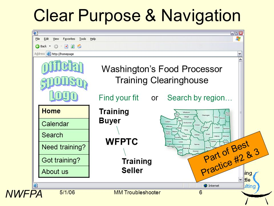 NWFPA 5/1/06MM Troubleshooter7 Open Access, Robust Search Home Calendar Search Need training.