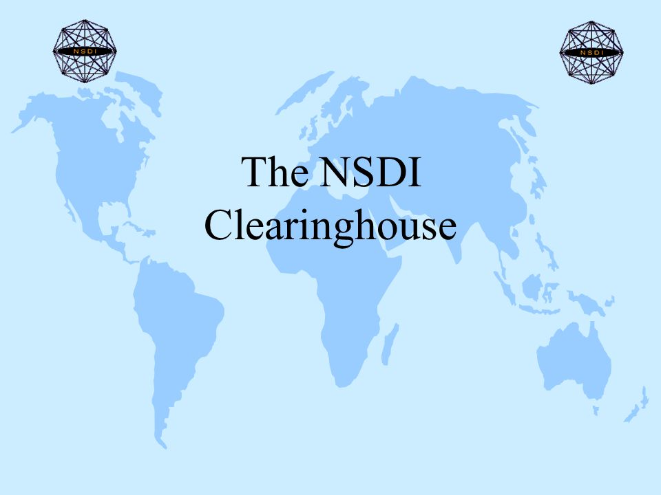 The NSDI Clearinghouse