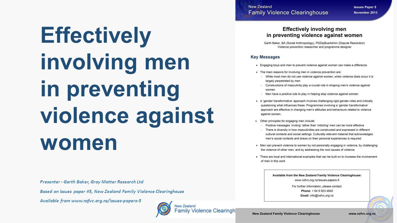 Effectively involving men in preventing violence against women Garth Baker Slide # 13 Men's involvement requires: MOTIVATION + OPPORTUNITY = ACTION