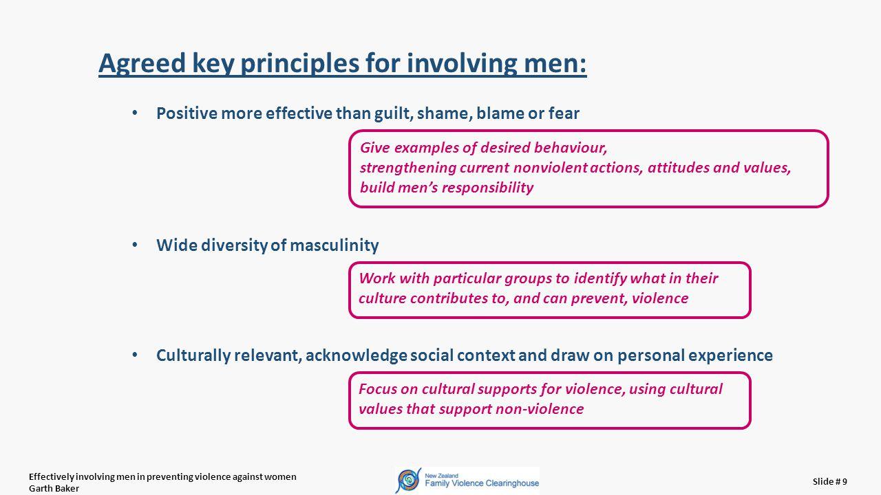 Effectively involving men in preventing violence against women Garth Baker Slide # 20