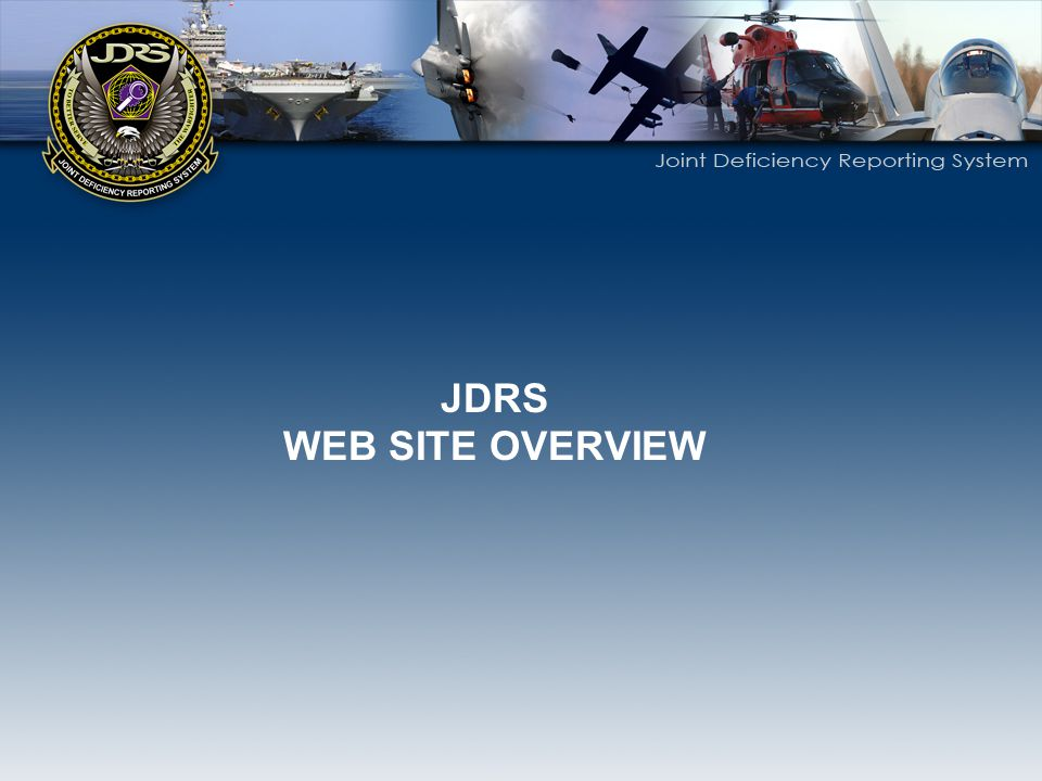 JDRS WEB SITE OVERVIEW