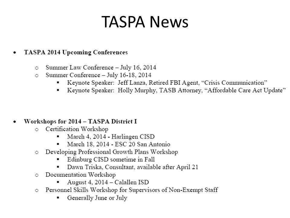 TASPA News