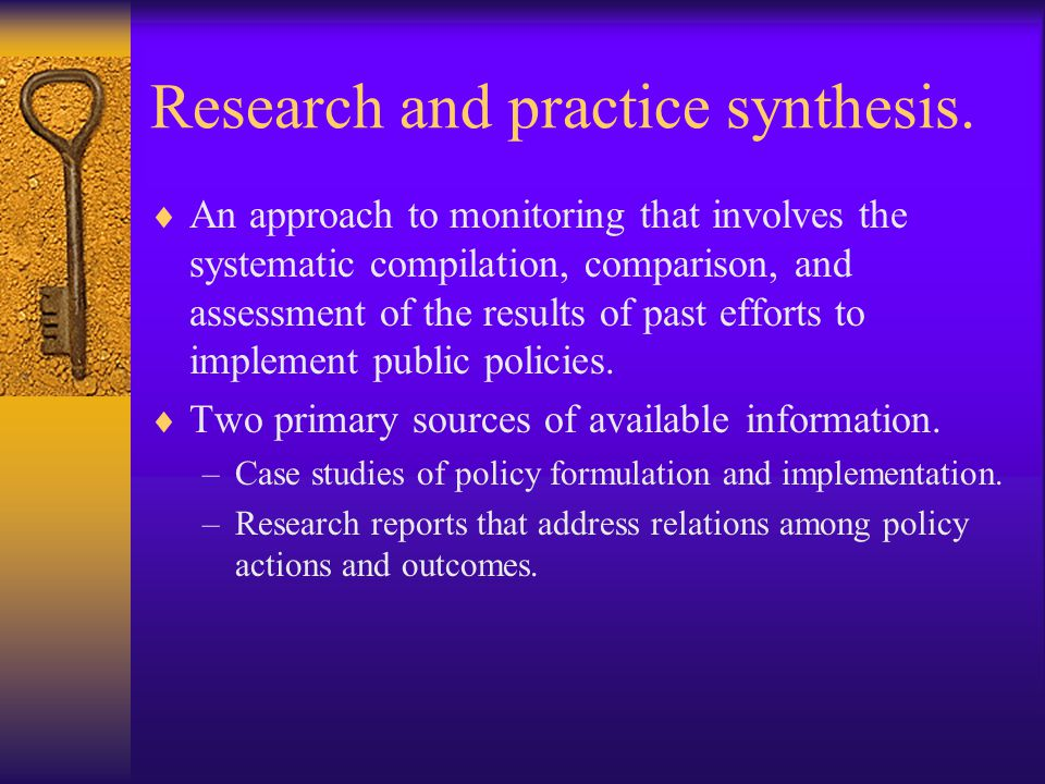 Research and practice synthesis.