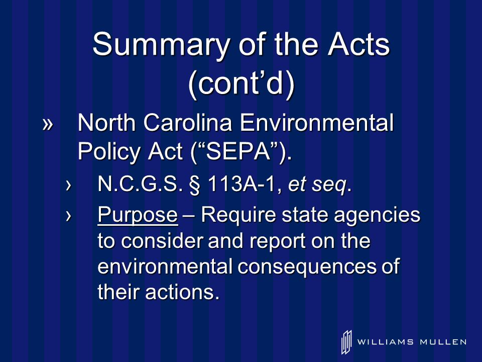 Summary of the Acts (cont'd) »Both statutes are procedural in nature.