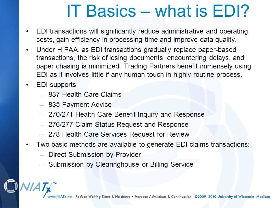 IT Basics – what is EDI.