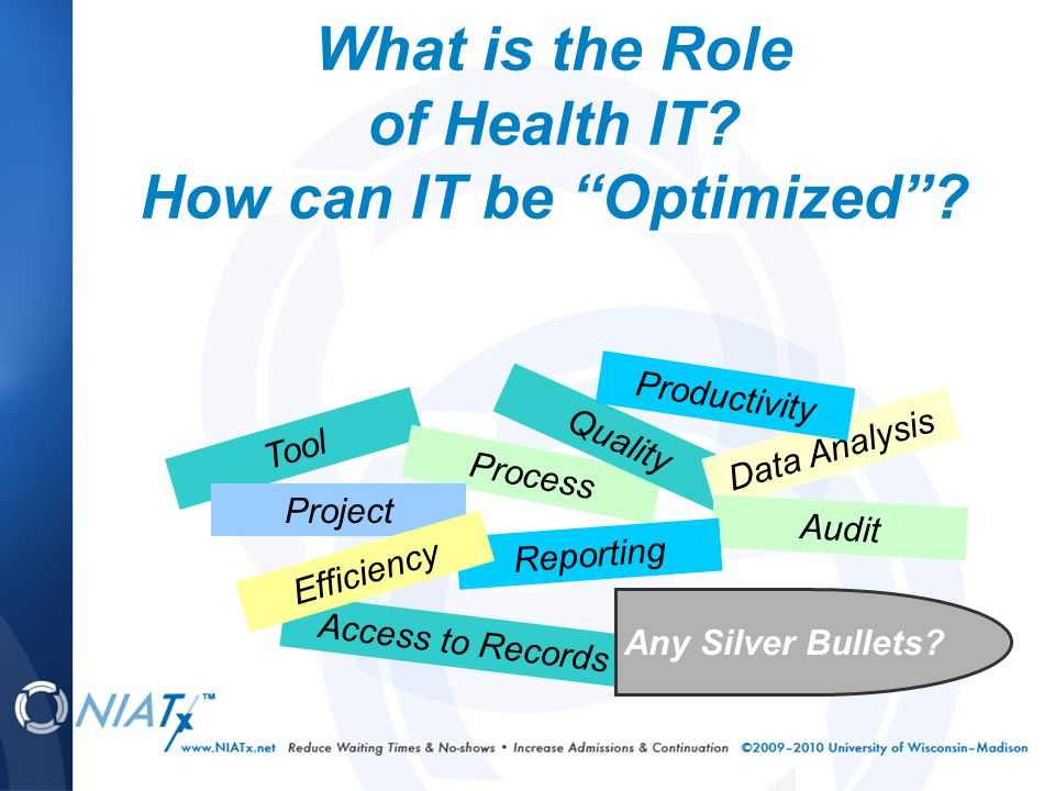 Access to Records What is the Role of Health IT. How can IT be Optimized .