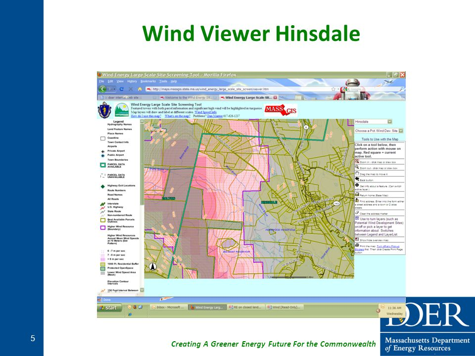 Creating A Greener Energy Future For the Commonwealth Wind Viewer Hinsdale 5
