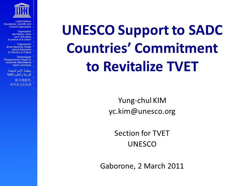 Contents UNESCO TVET Strategy UNESCO-ROK Cooperation BEAR Project