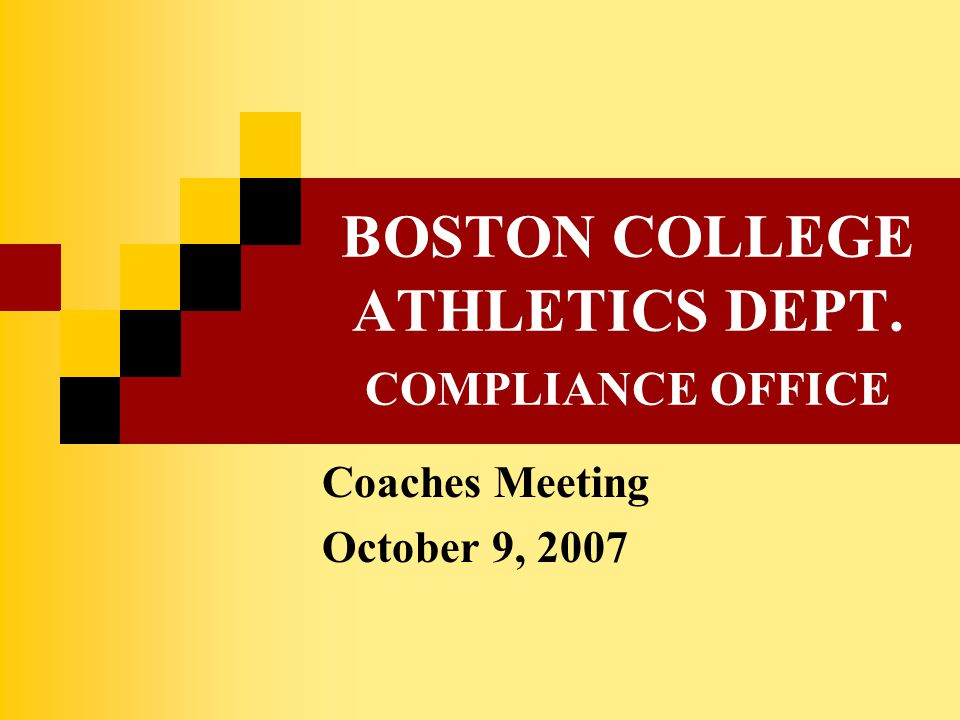 MEETING TOPICS NCAA Clearinghouse Transition ACC Non-Qualifier Rule