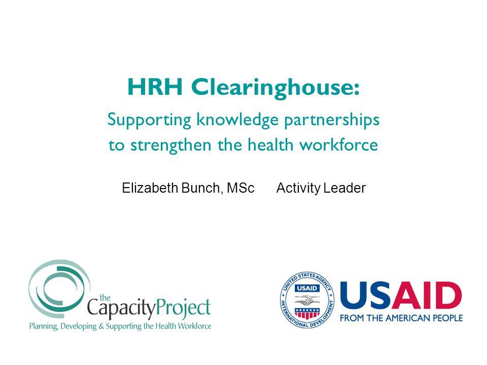 Gathering peer-reviewed HRH resources
