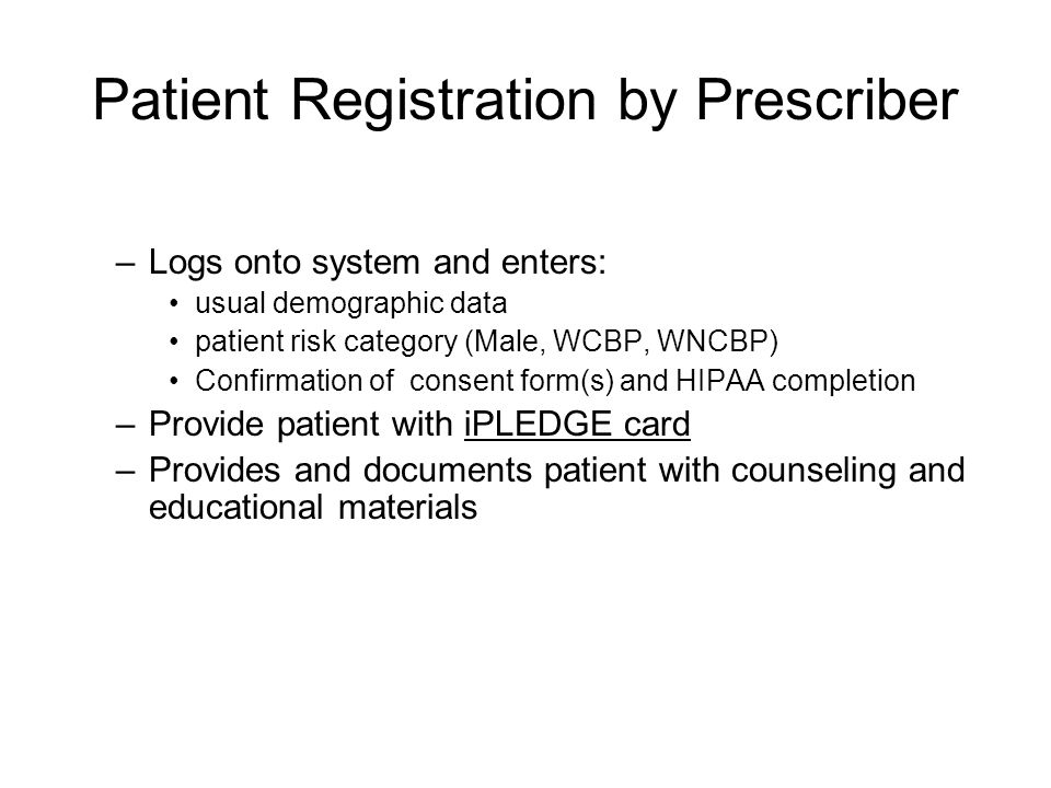 How do I enroll each patient into iPLEDGE