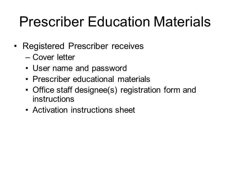 How does a prescriber register and activate