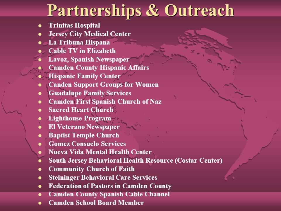 NAMI NJ en Español Outreach Activities