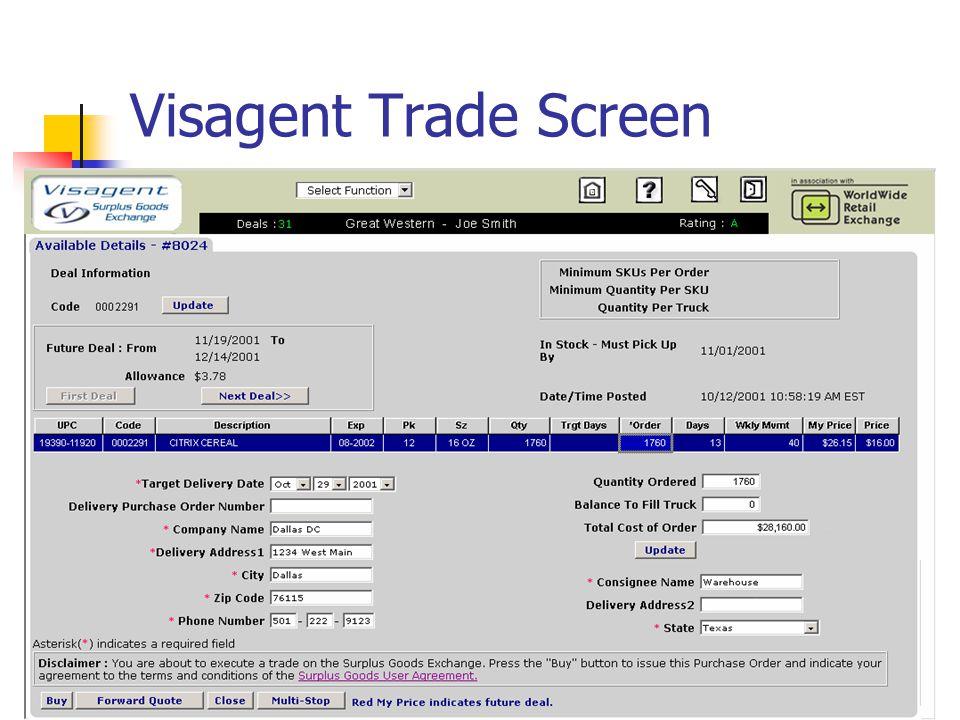 37 Visagent Trade Screen