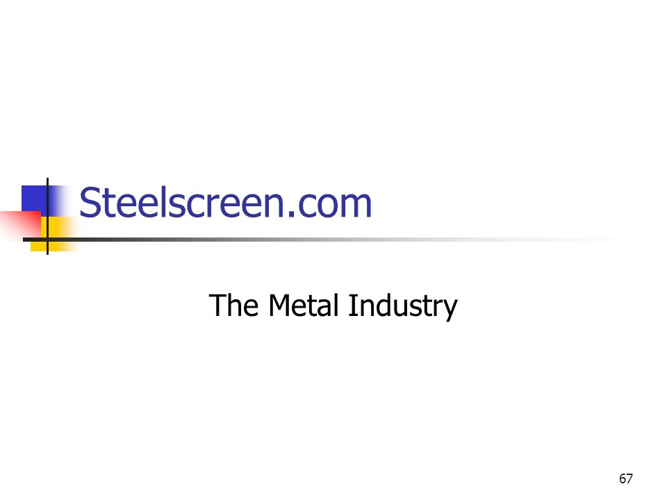 67 Steelscreen.com The Metal Industry